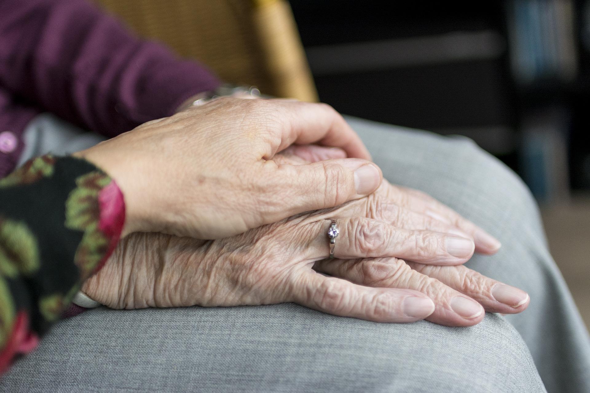 Old Old Age Vulnerable Hands Care Elderly